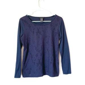 Ann Taylor Blue knit shirt